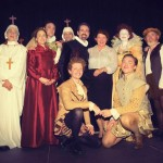 Cast of Blackadder with Councillor Vicki Howard