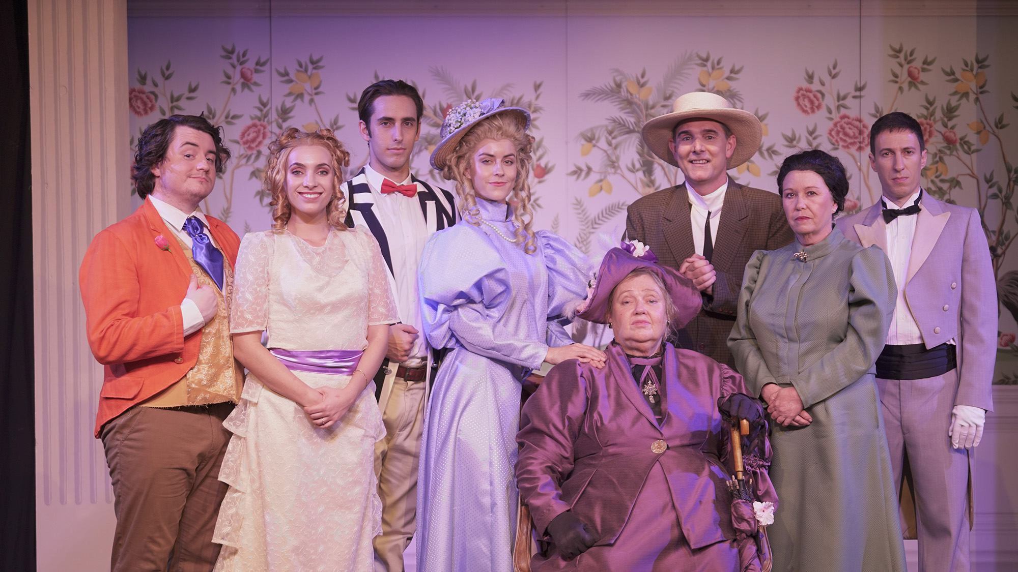 The cast of The Importance of Being Earnest at Growl Theatre